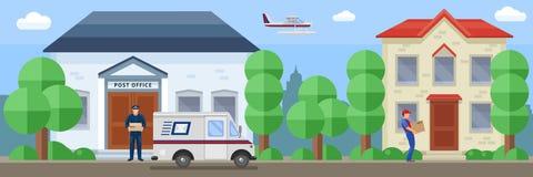 Composizione in servizio postale illustrazione di stock