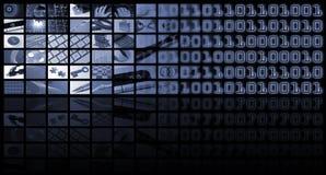 Composizione in tecnologia ed in affari Fotografia Stock Libera da Diritti