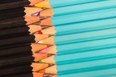 Composizione in uniforme delle matite di legno di un insieme Fotografie Stock Libere da Diritti