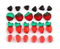 Composizione variopinta nelle caramelle della gelatina Immagini Stock Libere da Diritti