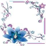 Composizione in vettore dei fiori Fotografia Stock