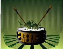 Composizione in vettore dei tamburi Immagine Stock Libera da Diritti