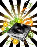 Composizione in vettore del miscelatore del DJ Fotografia Stock
