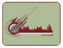 Composizione in vettore della città illustrazione vettoriale