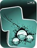 Composizione in vettore delle icone del Internet Fotografie Stock Libere da Diritti