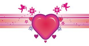 Composizione in vettore di amore Immagini Stock Libere da Diritti