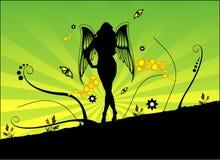Composizione in vettore di angelo Fotografie Stock