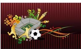 Composizione in vettore di gioco del calcio Fotografia Stock Libera da Diritti