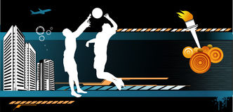 Composizione in vettore di pallacanestro Fotografia Stock Libera da Diritti