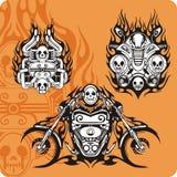 Composizioni nel motociclo royalty illustrazione gratis