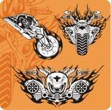 Composizioni nel motociclo illustrazione vettoriale