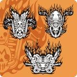 Composizioni nel motociclo - insieme 13 illustrazione vettoriale