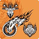 Composizioni nel motociclo - insieme 6 illustrazione vettoriale