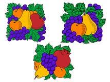 Composizioni nella frutta fresca Immagine Stock Libera da Diritti