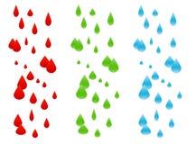 Composizioni nella pioggia isolate sopra   Immagine Stock