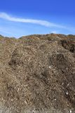 Compost big mountain outdoor ecological recycle Stock Photo