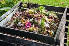 Compost bin. In the garden Stock Images