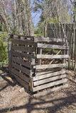 Compost Bin Made From Recycled Wood Royalty Free Stock Images
