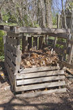 Compost Bin Made of Recycled Wood Royalty Free Stock Photo