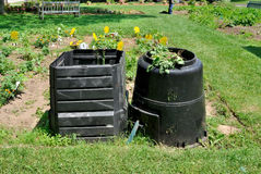 Compost bins Stock Photo