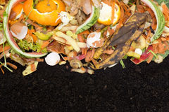 Compost with composted soil Stock Photo