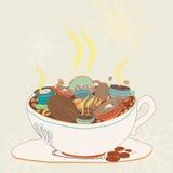Compost de Coffe Photos libres de droits
