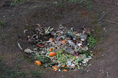 Pit composting Royalty Free Stock Image
