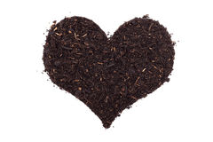 Compost in a heart shape Stock Image