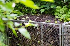 Compost metal bin royalty free stock photo