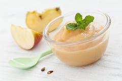 Composta di mele fresca Fotografie Stock
