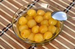 Composta gialla della ciliegia Fotografie Stock