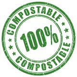 Compostable vector stamp. Compostable material vector stamp on white background Stock Photography