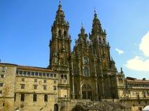 大教堂compostela de圣地亚哥西班牙 图库摄影