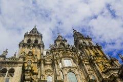 compostela de santiago собора Стоковое Изображение RF