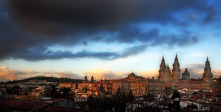 compostela de Santiago de cathédrale photos libres de droits