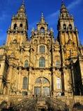 Compostelakathedraal van Santiago Stock Fotografie