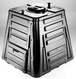 Composter noir Photographie stock libre de droits