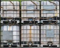 Composting av behållare arkivfoto