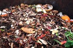 composting av högen av grönsakfrukter Organisk avfalls för begrepp, ren miljö arkivbilder