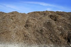 Composting ecological compost outdoor warehouse Stock Photos