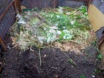 Composting i trädgården fotografering för bildbyråer