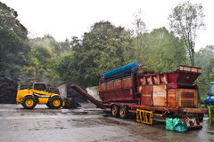 Composting Machines. Machines used for composting process stock image