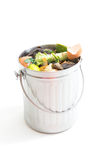 Composting. Shiny, new compost bin isolated on white background Stock Photos