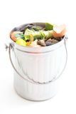 Composting. Shiny, new compost bin isolated on white background Royalty Free Stock Photo