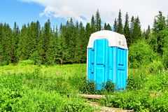 Composting toilet. In a forest Stock Photo