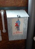 Composting toilet instructions. Just to be clear, no standing to pee Royalty Free Stock Photo