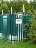 Composting toilets. Environmentally friendly toilets at Rushcliffe country park Stock Images