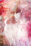 Composto bonito do retrato da jovem mulher imagens de stock royalty free