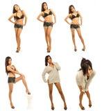 Composto da fêmea 'sexy' Imagens de Stock Royalty Free