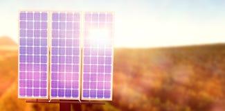 Composto de Digitas do painel 3d solar Fotografia de Stock Royalty Free